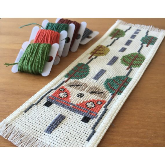 Hit the road Handmade Bookmark by TheCrossCosmos on Etsy