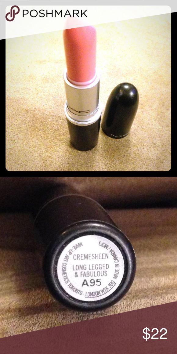 """MAC LE Lipstick LONG LEGGED AND FABULOUS 100% authentic LIMITED EDITION MAC lipstick """"long legged and fabulous"""" I have receipt from MAC store if you'd like a photo to prove authenticity since I know there are tons of fakes rolling around the internet 🙄 Swatched 2-3 times. I think I still have the box as well. Don't miss out on this gorgeous limited pink💕 MAC Cosmetics Makeup Lipstick"""