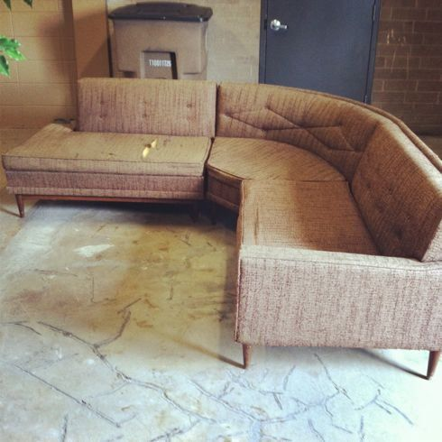 Diy tips on how to reupholster a mid century sofa diy for How to reupholster furniture diy