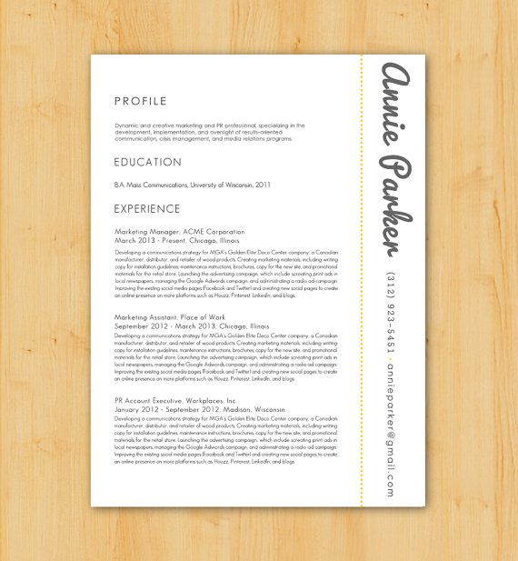 Custom Resume Writing And Design Service: Includes Resume Writing, Resume  Design   Minimalist, Modern Design   The Annie Parker