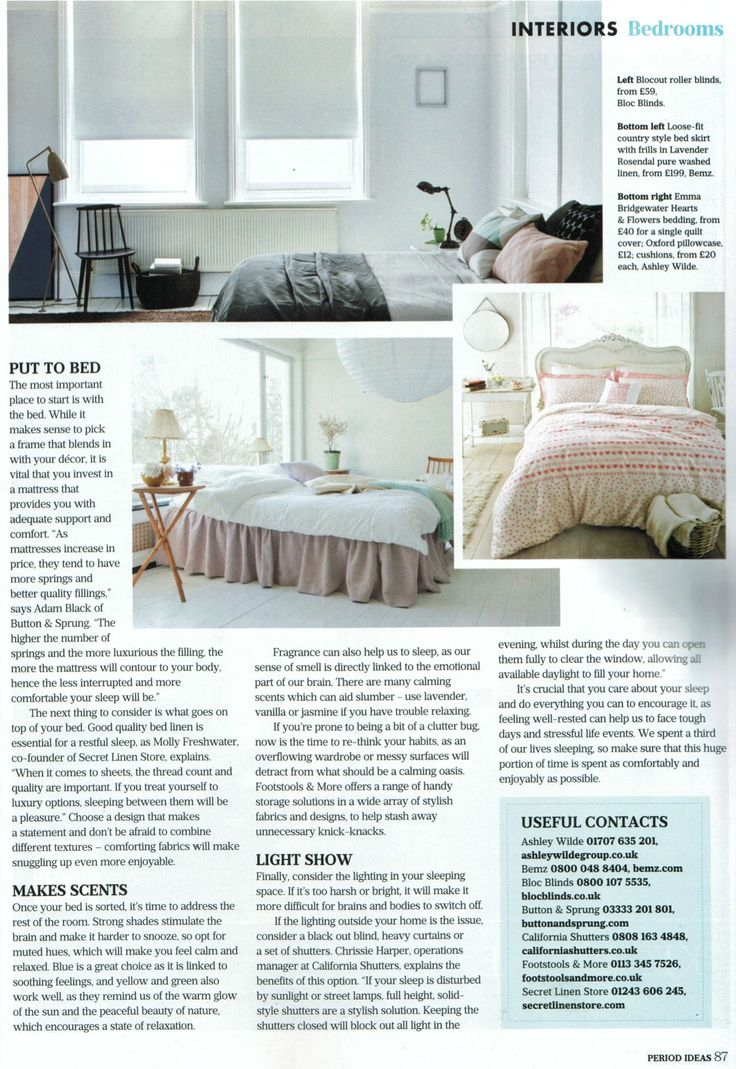 Need statement and on trend blinds for your bedroom? Bloc Blinds is here featured in the June issue of Period Ideas. Great solution for those lazy morning sleep ins. #windowtreatments #blocblinds #blinds