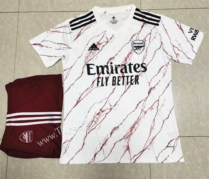 2020 2021 Arsenal Away White Soccer Uniform Soccer Uniforms Arsenal Football Sweater