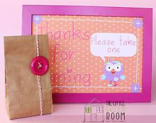 "Giggle And Hoot "" Hootabelle "" Custom A4 Birthday Party Sign Print"