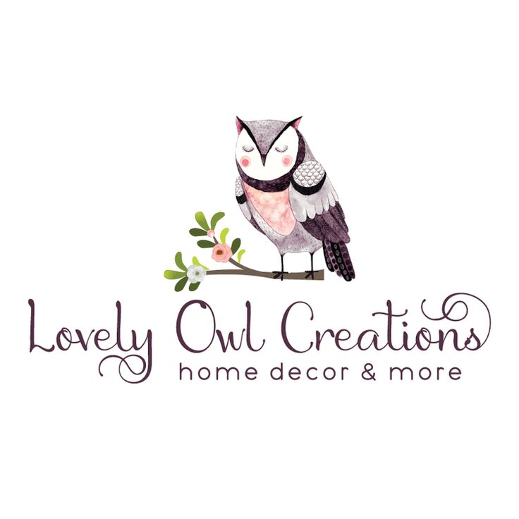 Owl Premade Logo Design & Blog Header - Customized with Your Business Name!