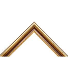 Cottage Land som är en fin guldram, har en effektfull brun färg i mitten. Det skapar en mjuk och behaglig känsla mellan färgerna i brunt och guld. Cottage Land är ett vanligt val hos våra målande konstnärer. Svensk tillverkning och kvalité. Bredd: 28 mm. Höjd: 20 mm. Falsdjup: 6 mm.