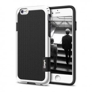 Carcasa Iphone 7, Silicon, Protectie Spate si Lateral, Culoare Negru/Alb