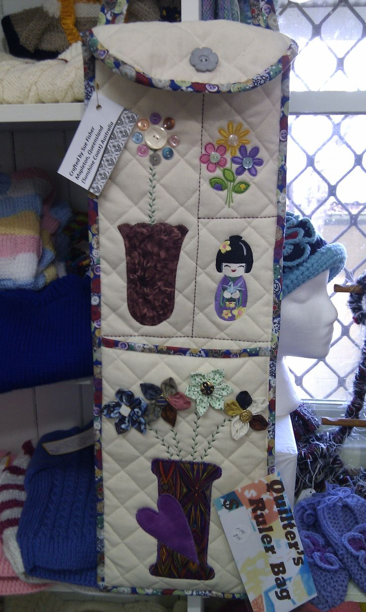 A quilter's ruler bag to keep all your precious tools together in one bag. (Sept 2013)