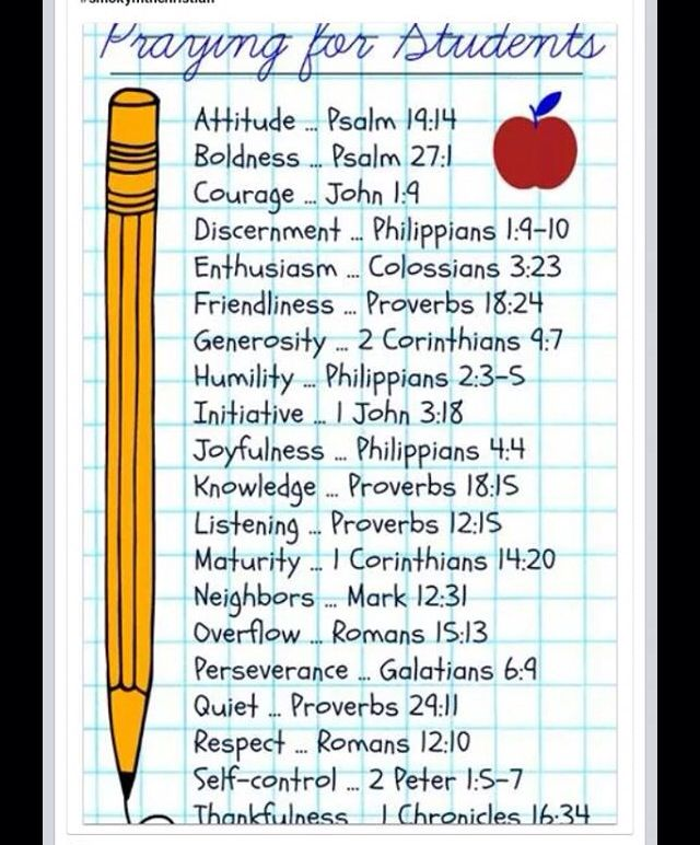 Prayers for Students | Quotes | Prayers, Bible lessons ...