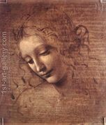 Female head (The Lady of the Dishevelled Hair) (or La Scapig...  by Leonardo Da Vinci