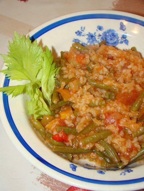 Cristina's world: Mancarica de post cu fasole verde si orez