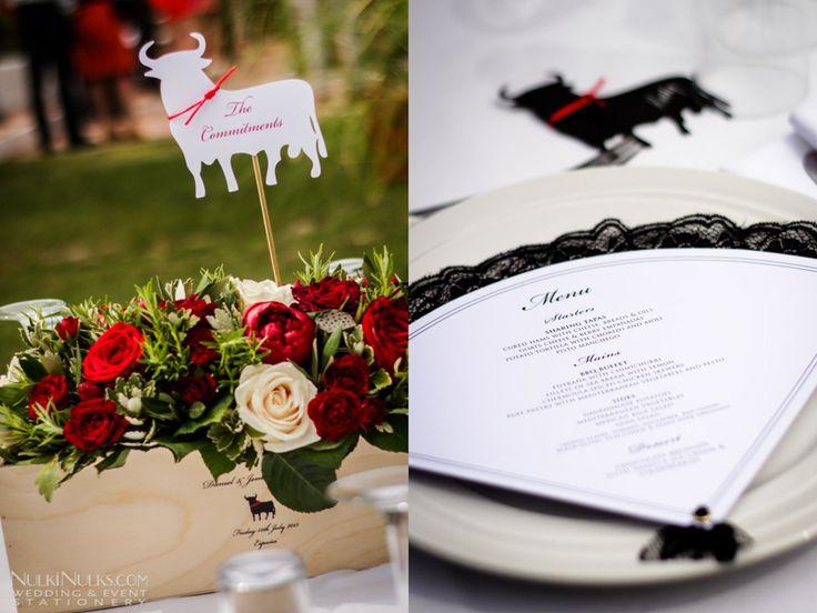 Flamenco inspired wedding table