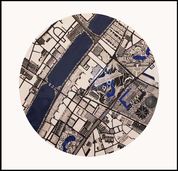 København Norreport Original drawing made of ink. December 2012.