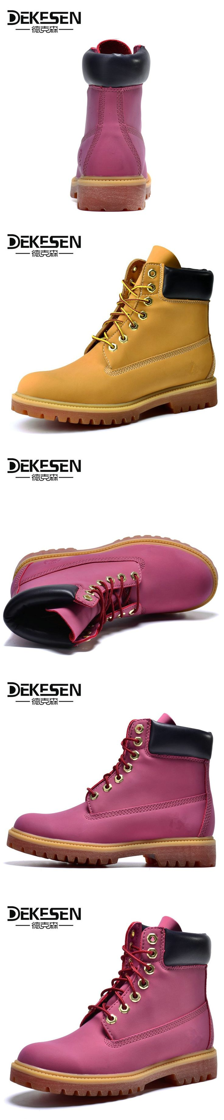 DEKESEN 2017 Spring Autumn Women martin boots Outdoor waterproof Lady Genuine leather boots Brand high quality snow shoes women