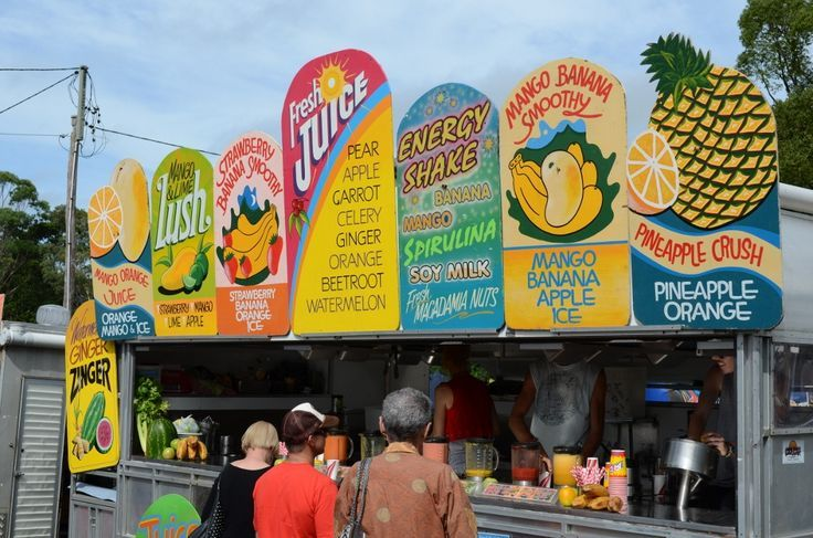Fresh juice at Bangalow markets