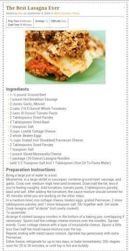 pioneer woman the best lasagna ever pioneer woman lasagna best lasagna ...