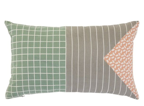 Ida Printed Triangle Cushion 30 x 50cm, Pink Multi