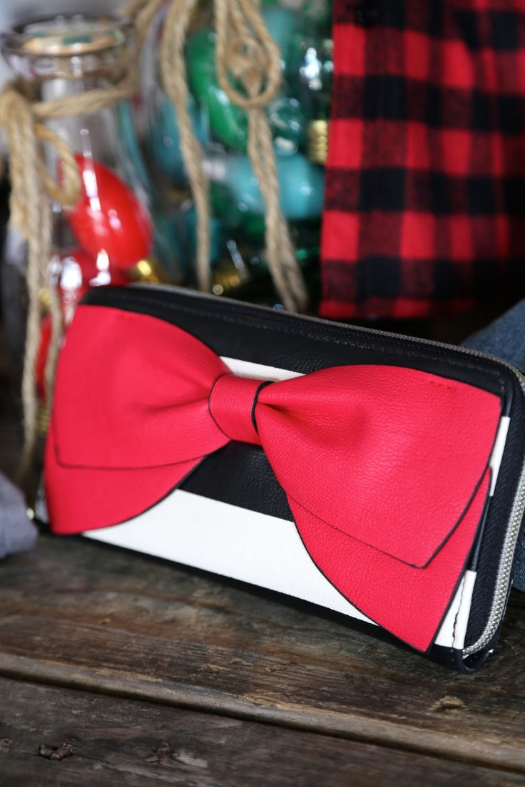 Betsy Johnson Red Bow Wallet