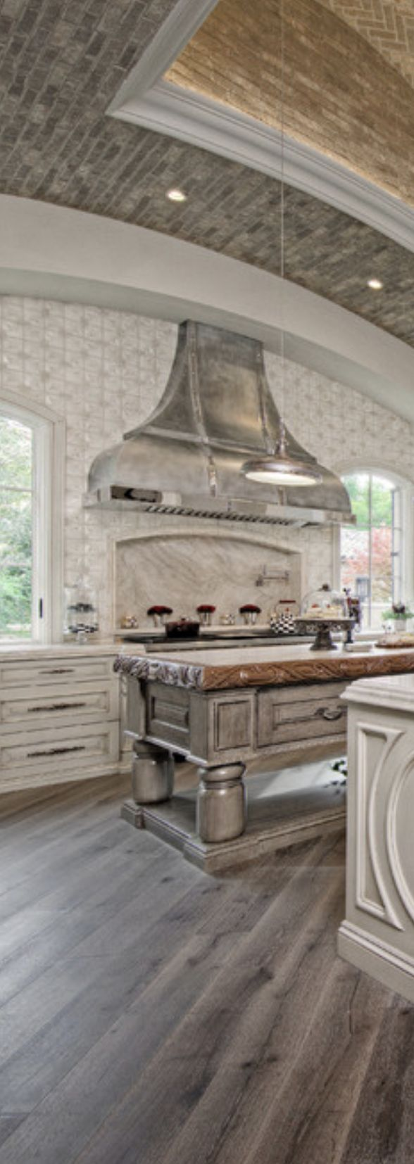 old world kitchen fabulous tile backsplash and hood