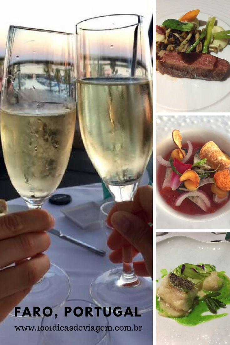 Jantar no Restaurante Ria Formosa em Faro, Portugal. Todos os detalhes no 1001 Dicas de Viagem.