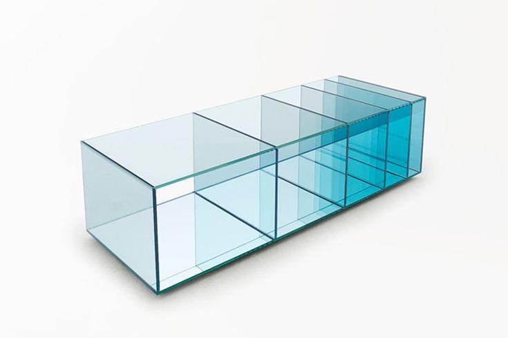 nendo: deep-sea collection for glas italia. low table or shelf