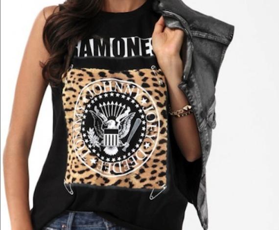 Ashley Benson: Forever 21 Ramones Shirt