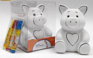 Detalle infantil hucha cerdito de ceramica para pintar para regalar a los niños #Grandetalles