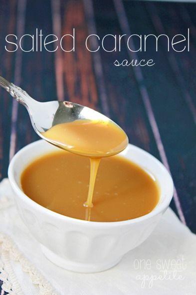 gesalzene Karamell-Sauce-