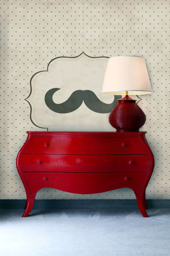 Mustache Wall Murals from PIXERS Add Masculinity to Your Interior #homedecor #decals trendhunter.com