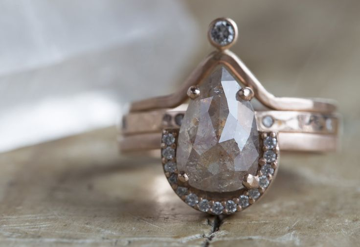 One a Kind Peach Diamond Ring :: Alexis Russell