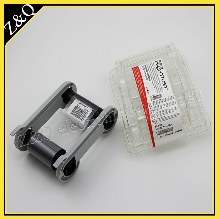 Пластиковых карт на принтер Evolis лента RCT011NAA ЧЕРНАЯ лента для Zenius карты printer-1000 печатает