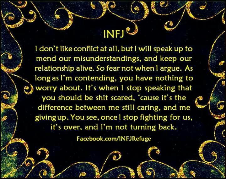 isfj dating infp I spent one night on forums reading about infj/isfj couples until 3 the downward spiral of s/n dating dynamics after briefly dating an infp.