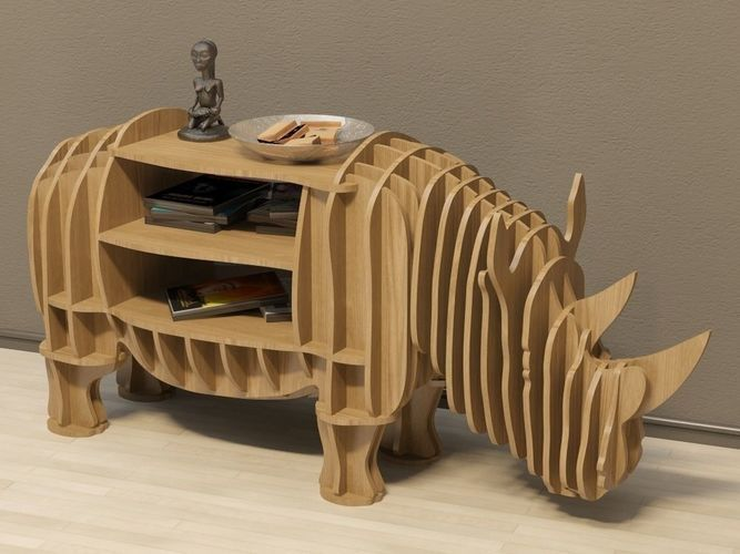 cofee table rhino 3d model max obj fbx dxf dwg 1