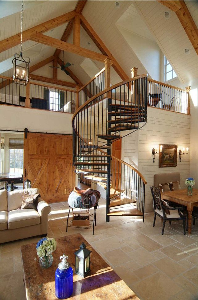 Spiral Staircase Ideas. I love the design of this spiral staircase. #Spiral #Staircase