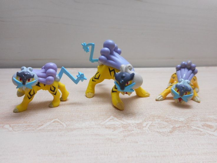 Pokemon Raikou Mini Figure Set Nintendo Toy #Nintendo