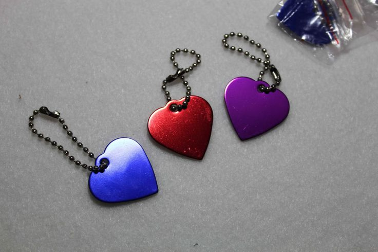 Personalized Engraved Heart Shape Pet Dog Cat Tag Id Neck-chain Ring Aluminium #Handmade