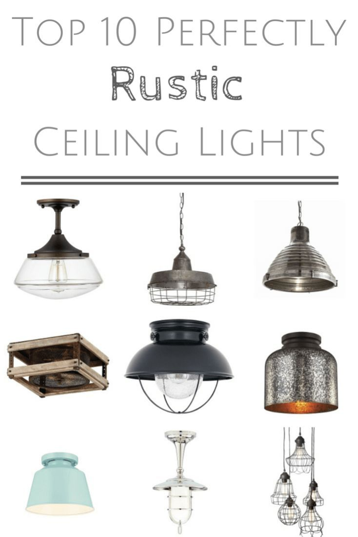 {Let There be Light} 10 Perfectly Rustic Ceiling Lights