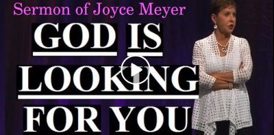 Joyce Meyer - God Is Looking For You (December-03-2018