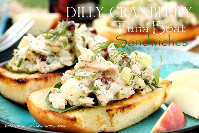 Cranberry and Dill Tuna Boat Sandwich | Coupon Clipping Cook