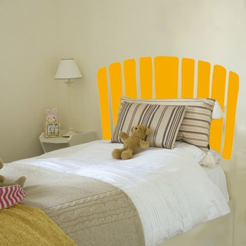 Sticker headboard inspired by american classic adirondack chair,a relax symbol from 1901. Easy to assembly and in the color you prefer to dress the room quickly and cheap. it's great for kids room.