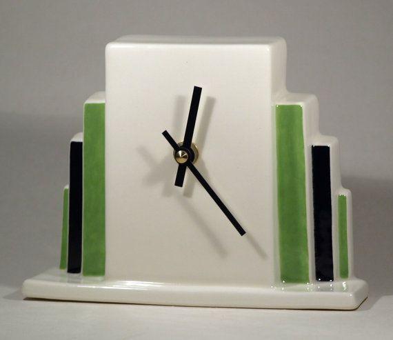 Echo of Deco Art Deco Inspired Rockefeller Mantel Clock
