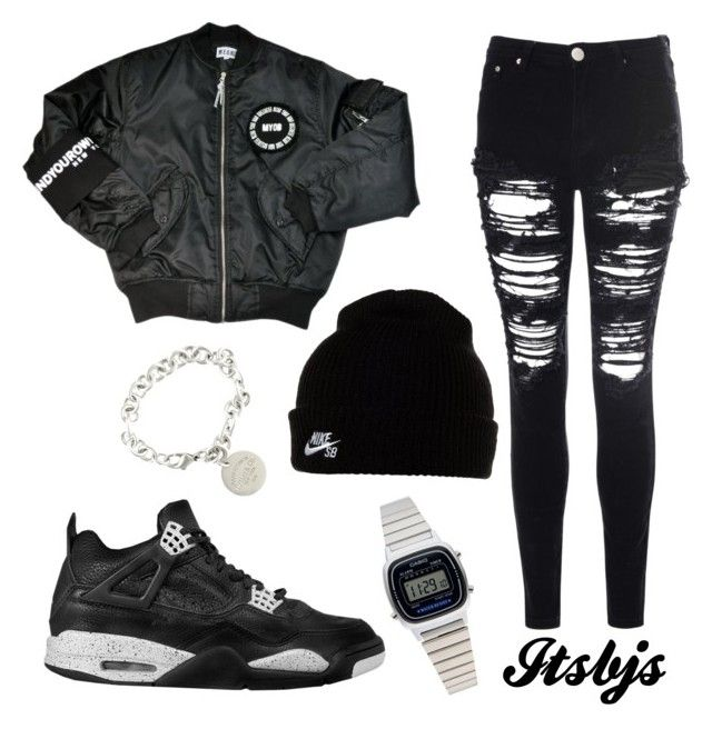 """Black/Nike/Jordan"" by itsbjs on Polyvore"