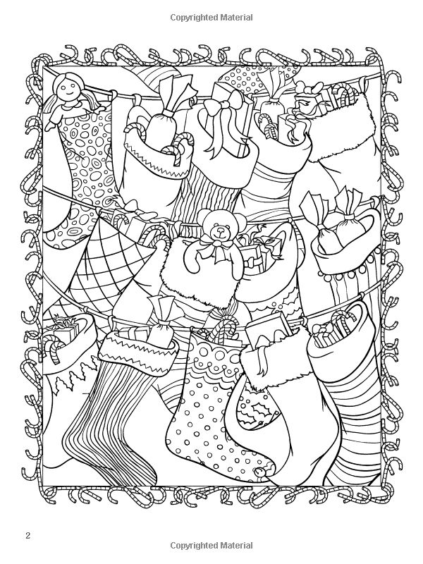 Amazon ChristmasScapes Dover Holiday Coloring Book 9780486471952 Jessica