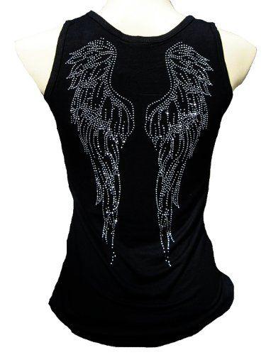 Rockabilly Punk Rock Baby Damen Diamante Strass Designer Tank Top Shirt Union Jack UK England Flagge schwarz Tattoo Design: Amazon.de: Bekleidung