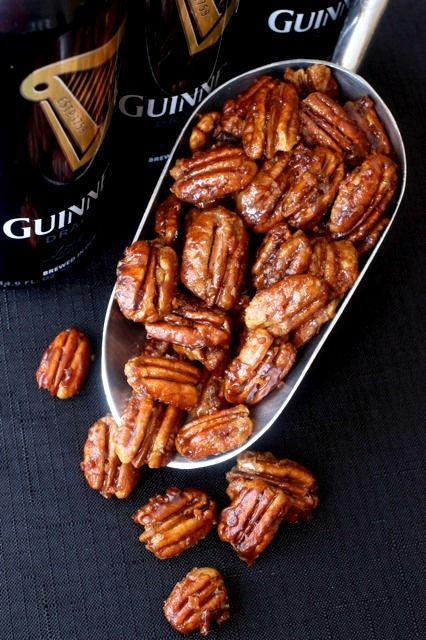 These Guinness Beer Nuts are coated with a sweet beer glaze then tossed with pieces of smokey bacon. Just like the saying goes, once you start you won't be able to stop!