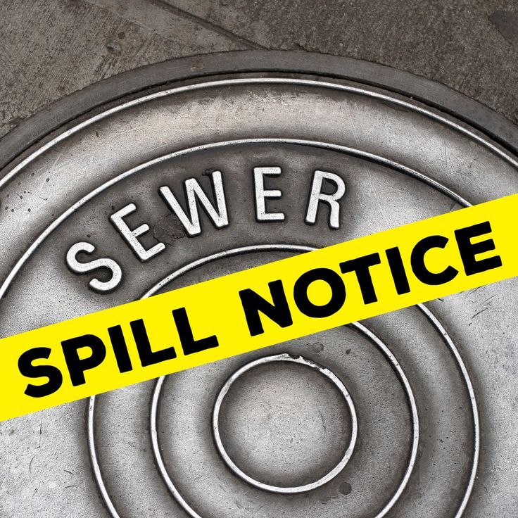 Health department issues public notice on sewage spill