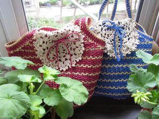 Tina's handicraft : crochet bags with mandala designs