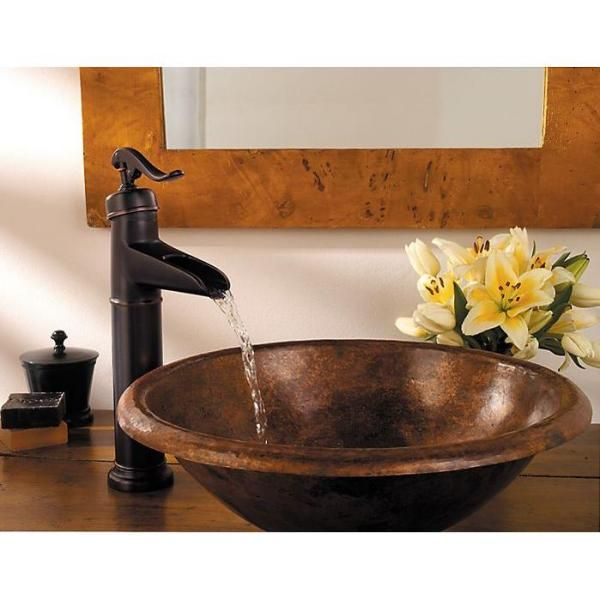 Pfister Ashfield Single Hole 1-Handle Vessel Bathroom Faucet in Tuscan Bronze-F-M40-YP0Y - The Home Depot