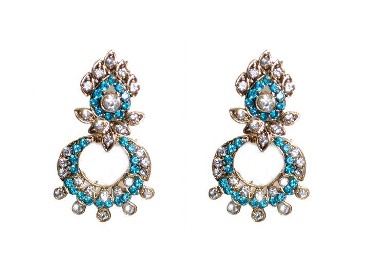 blue drop earring for women