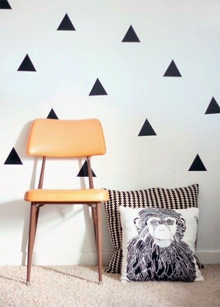 triangulos na parede