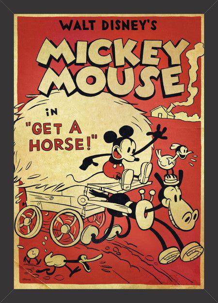 Mickey Mouse - Get a horse! - Tcholos - A sua loja de quadros decorativos